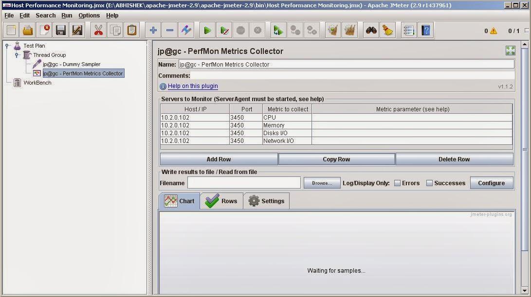 Windows/Linux performance monitoring using Jmeter