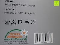 Bezug, Füllung und Pflege: 4-Jahreszeiten 135x200cm Ganzjahres Bettdecke Steppdecke Steppbett Microfaser mit Druckknöpfen