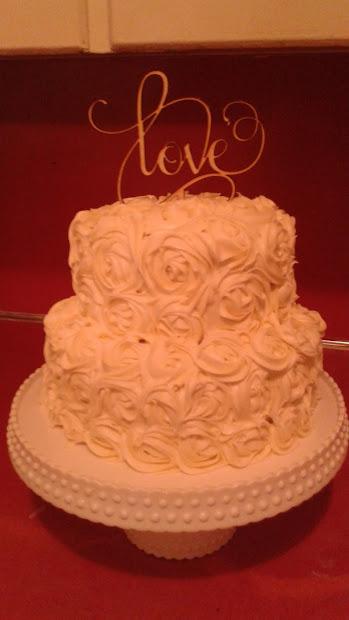 Love Life Decorate Beautiful Flower Rose Cake
