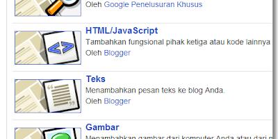 Cara menampilkan widget blog hanya pada bagian tertentu