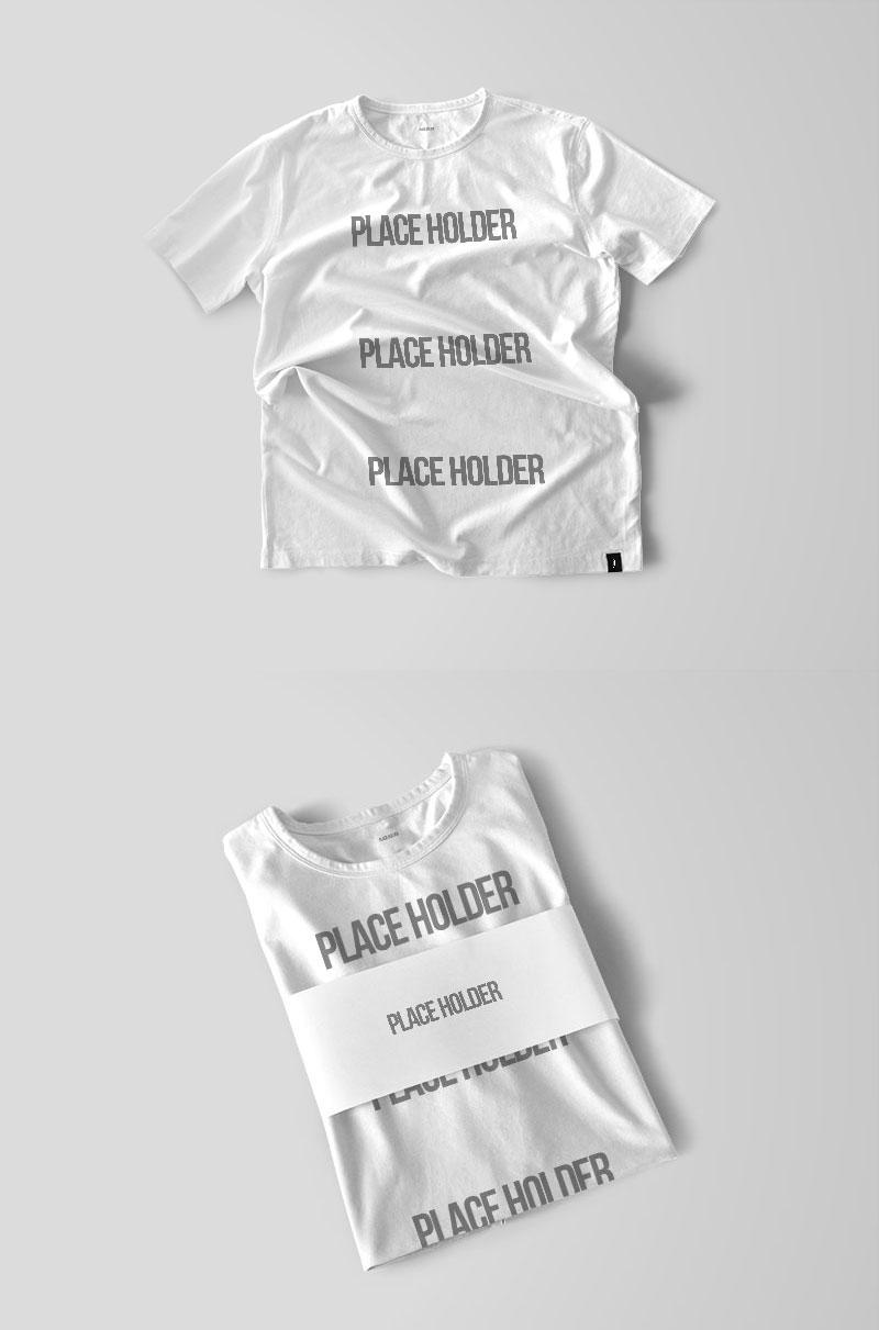 2 Free T-Shirt Mockup