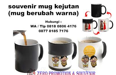 souvenir mug kejutan (mug berubah warna)