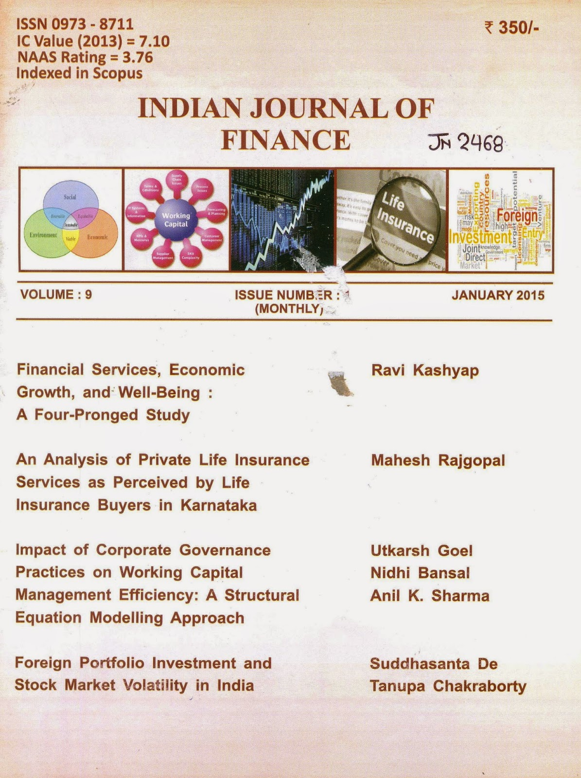 finance india journal subscription