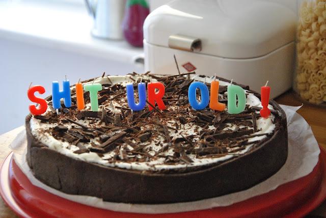 Mississippi Mud Pie Geburtstagskuchen