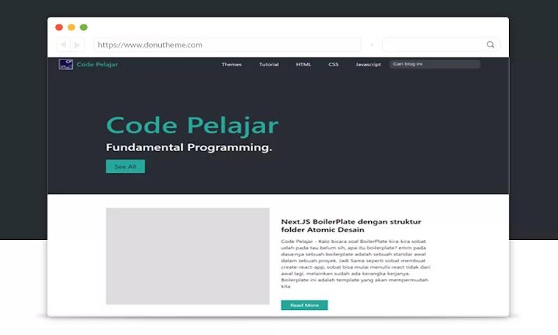 Code Pelajar Blogger Template - Responsive Blogger Template