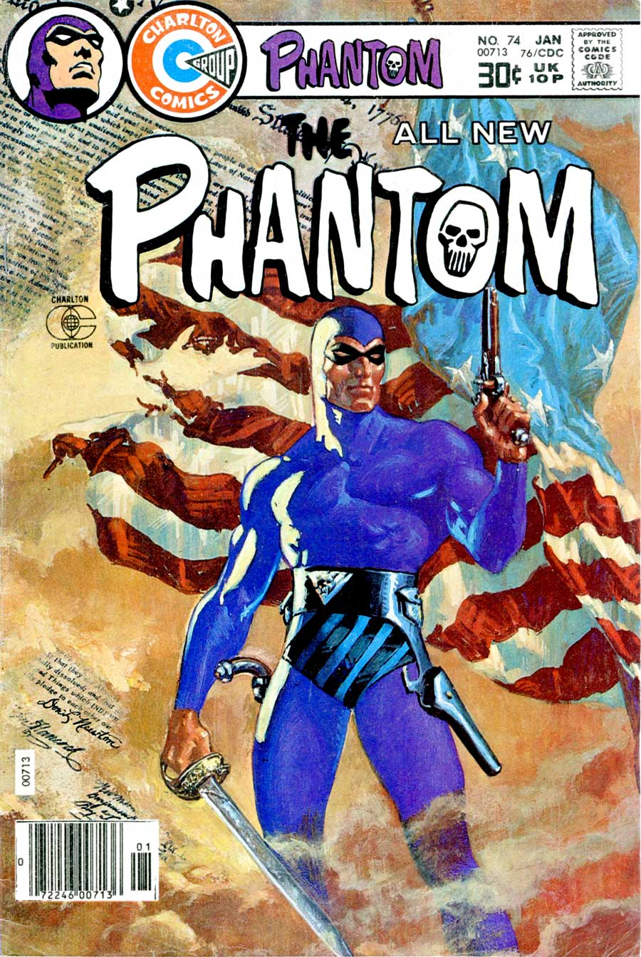 The Phantom v2 #74 charlton comic book cover art by Don Newton