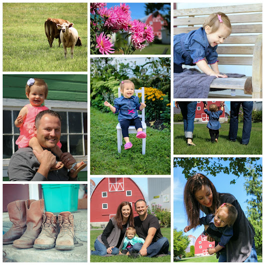 One year photo shoot out on the family farm.