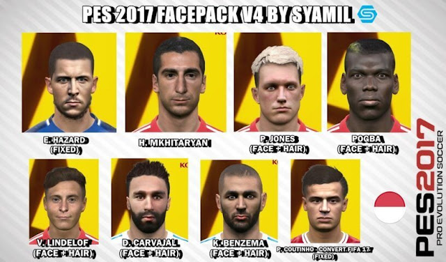 Updated Facepack PES 2017