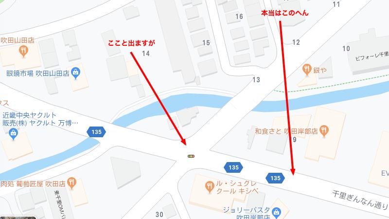 七尾西バス停地図