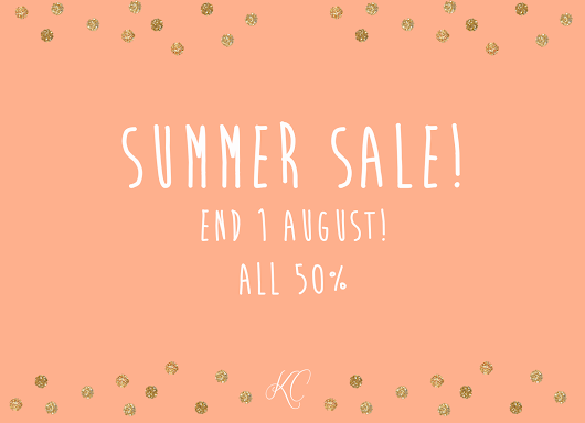 Summer Sale in my Etsy Shop!