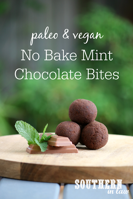 Healthy No Bake Mint Chocolate Bites Recipe - low fat, gluten free, vegan, paleo, clean eating recipe, sugar free