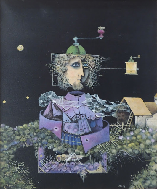 Eduard Alcoy cuadro surrealista retrato