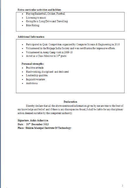 curriculum vitae  curriculum vitae in tabular form