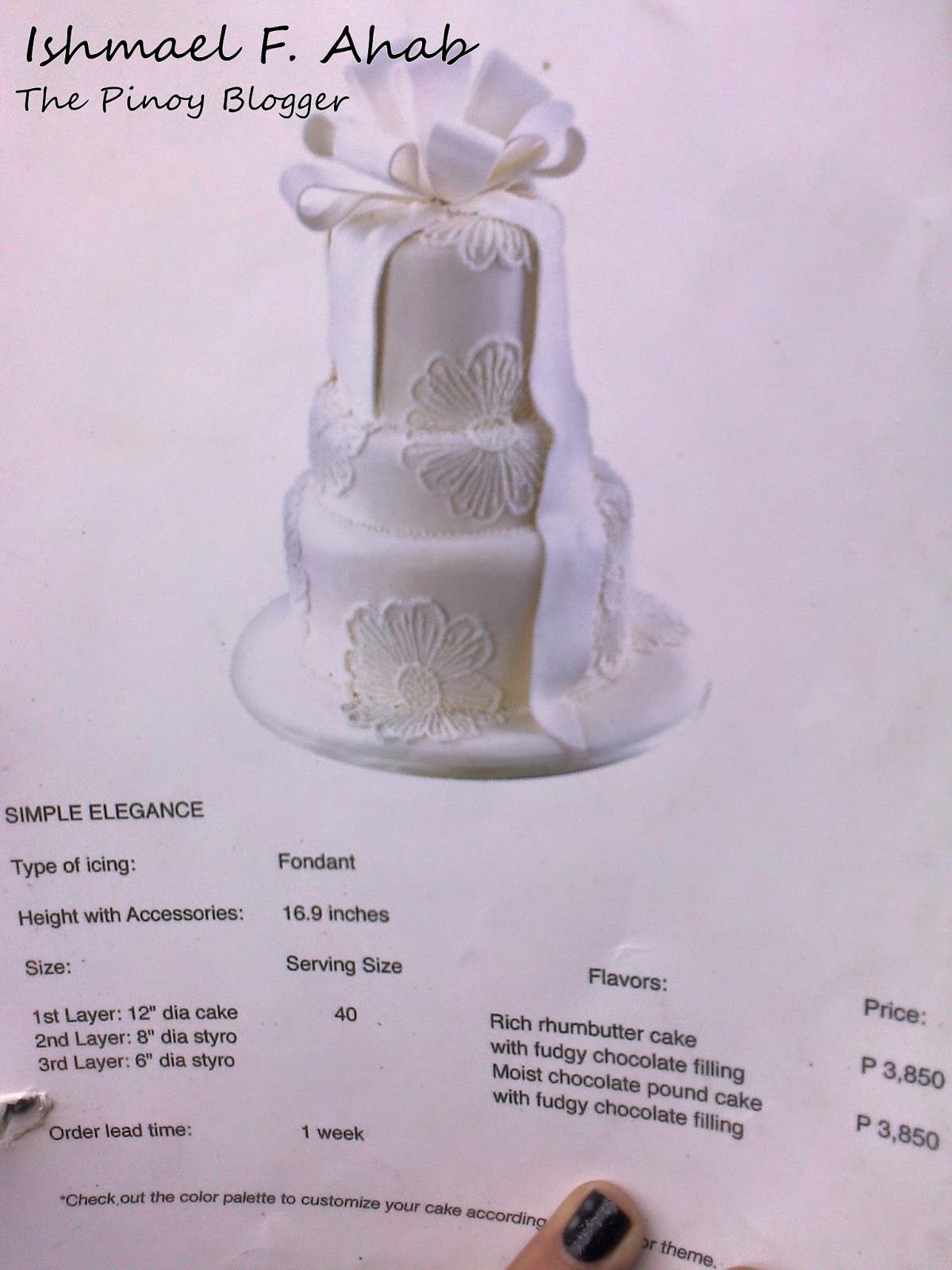 Simple Elegance Wedding Cake Of Red Ribbon Bake