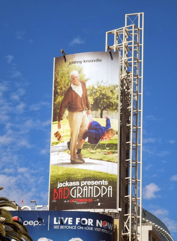 Jackass Bad Grandpa movie billboard