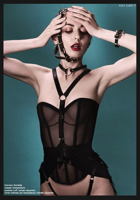benjamin kaufmann lingerie luxury corset made in london silk harness bordelle harness black
