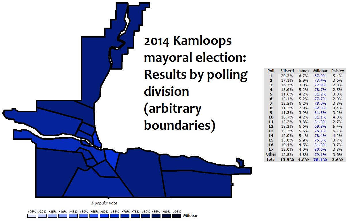 Map Of Canada 2017 Election Results.Canadian Election Atlas Kamloops Mayoral And Council By Elections