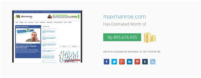 Penghasilan Blog Maxmanroe Sebulan Temus 50 Juta Lebih