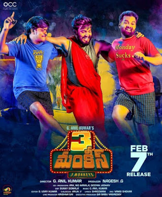 3 Monkeys 2020 Telugu 720p WEB HDRip HEVC x265