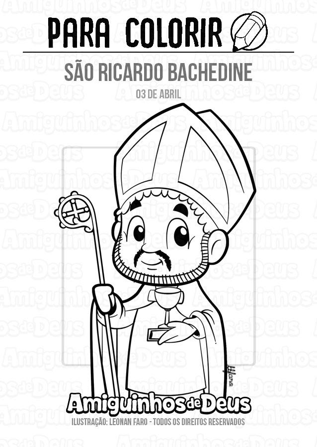 São Ricardo Bachedine desenho para colorir