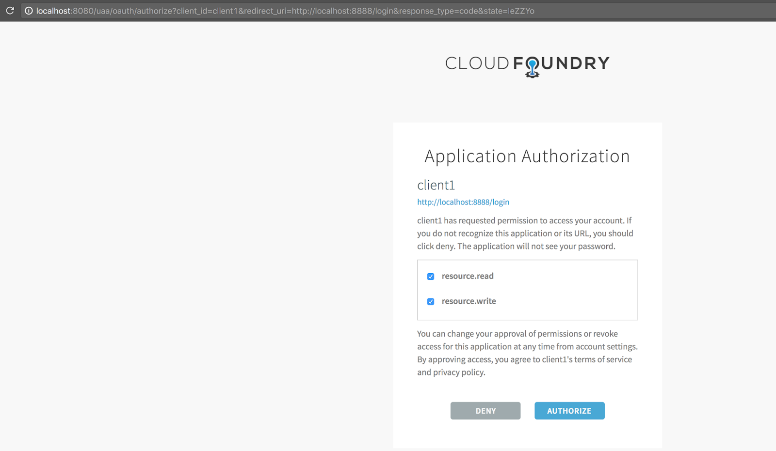 all and sundry: Using UAA OAuth2 authorization server