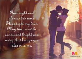 Romantic Good Night Love Quotes: goodnight and pleasant dreams, sleep light my love,