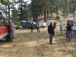 San Gabriel Mountains Trailbuilders at the end of the day of working on Hawkins Ridge Trail