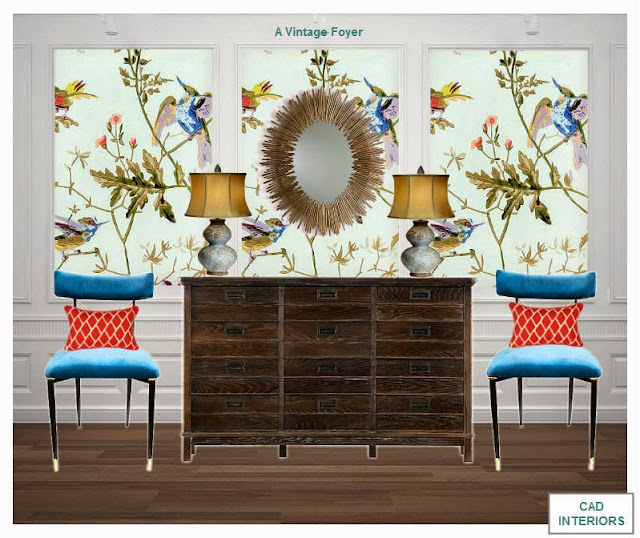 traditional vintage bohemian eclectic edesign interior design wallpaper