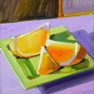 Here Are Some Great Examples Of Paintings Done Using A Triadic Color Scheme In This Case Purple Orange And Green White To Tint Or Lighten