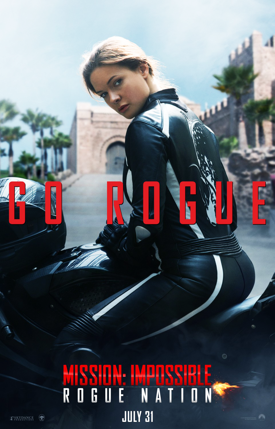 Mission Impossible: Rogue Nation Poster - Rebecca Ferguson