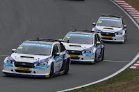 Subaru made its BTCC debut at Brands Hatch