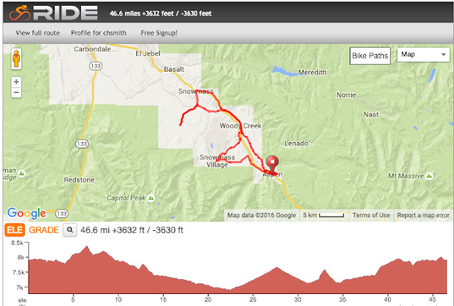 Ride the Rockies Prologue route map 2016