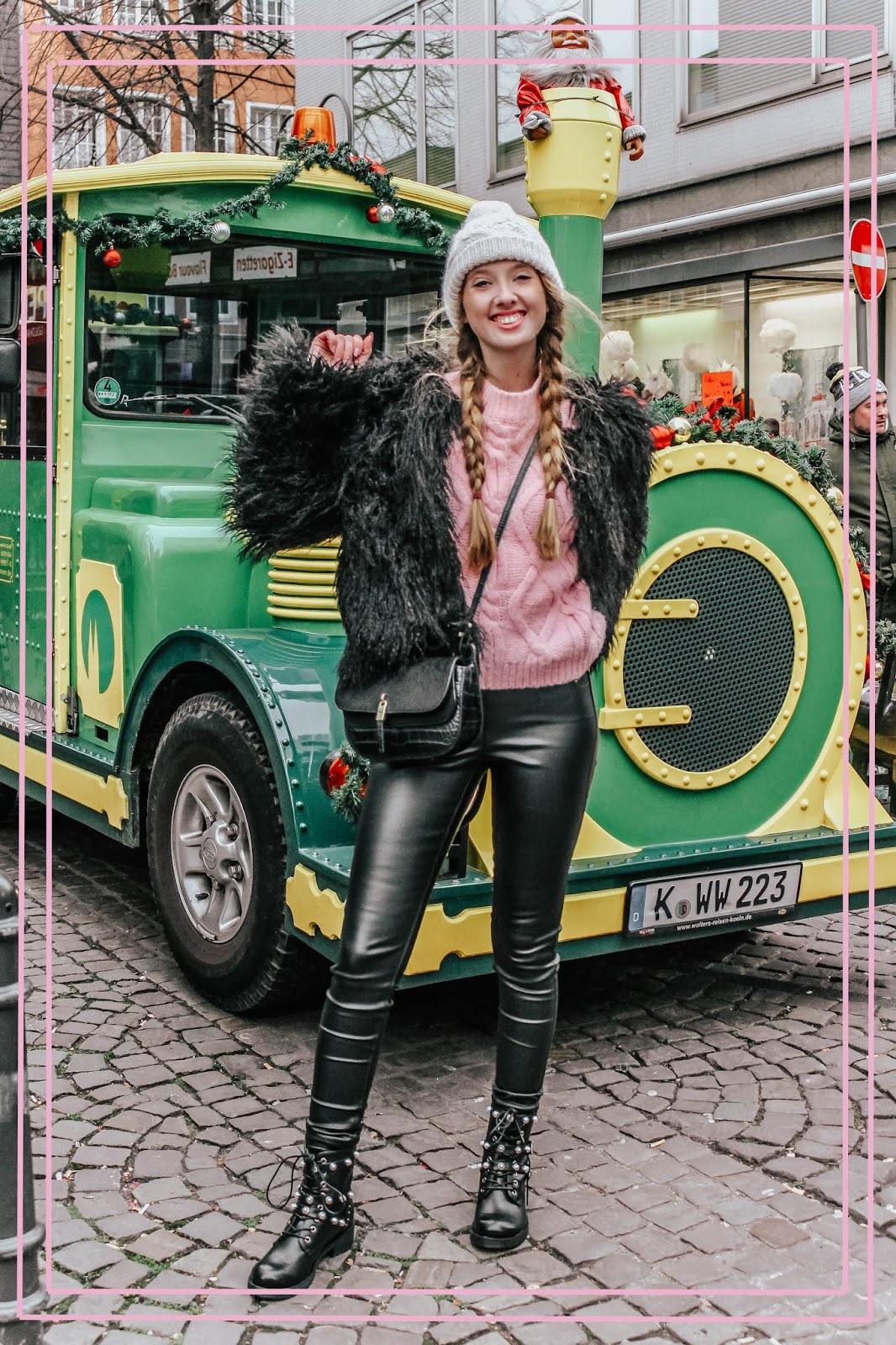 Green Tourist Train Cologne Germany Christmas Markets