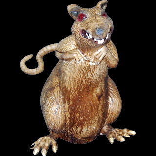 Creepy Jumbo DISGUSTING RAT Haunted House Horror Prop Decoration