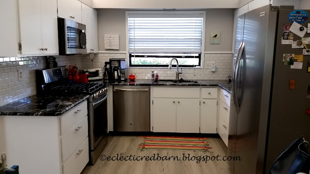 Eclectic Red Barn: Completed kitchen makeover
