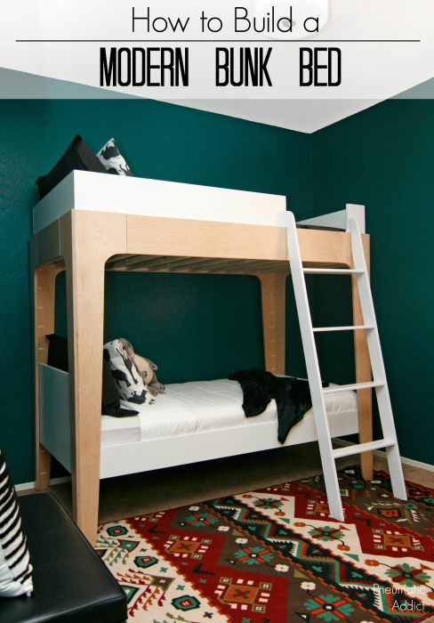 modern bunk beds. Use FREE building plans to make a set of bunk beds ...
