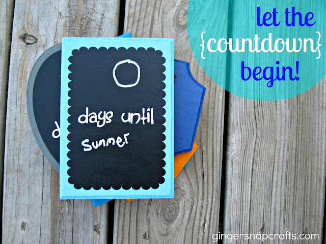 Easy and cute Chalkboard Countdown Plaques!! Great for any occasion!