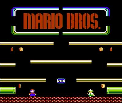 Juego retro de Mario Bros para nintendo NES