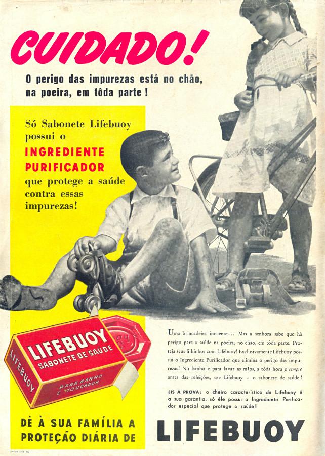 Campanha do Sabonete Lifebuoy para proteção da família contra as impurezas