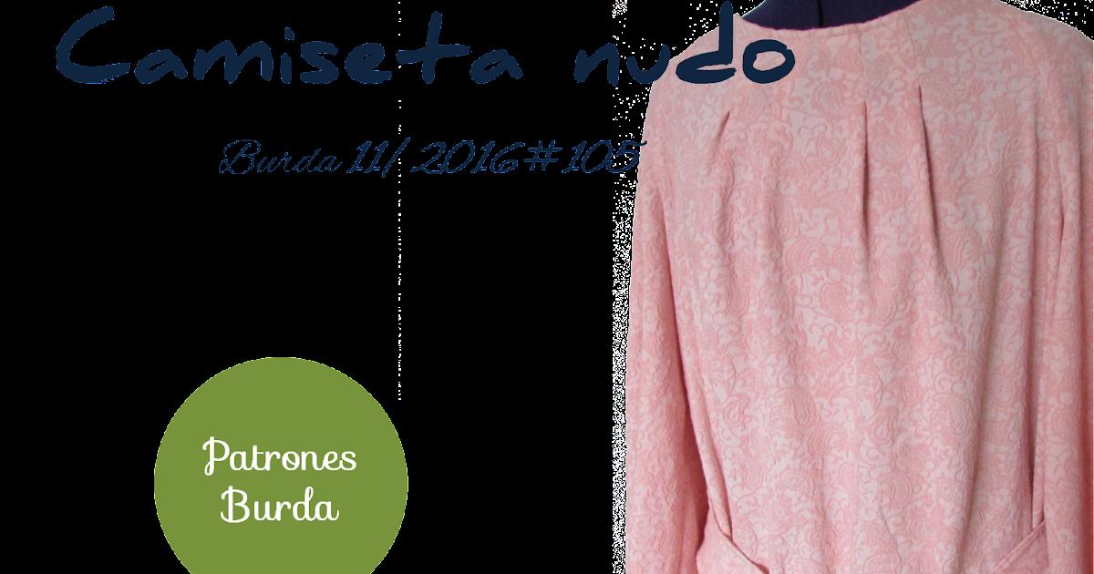 El Prensatelas: Patrones Burda: Camiseta nudo