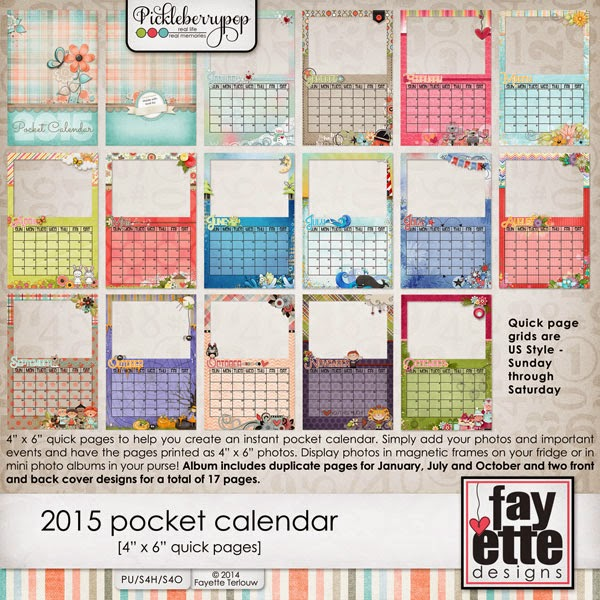 Liberty\u0027s Layouts Quick Pocket Calendar Pages