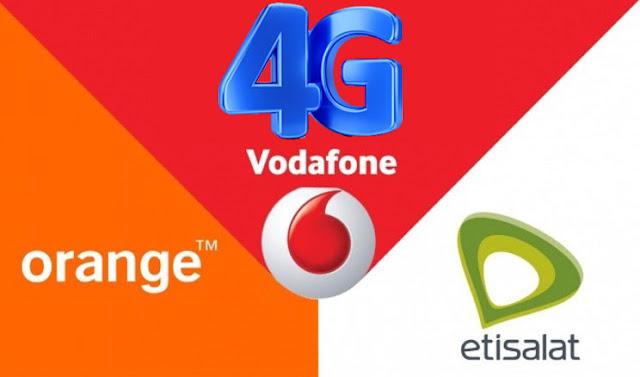 شبكات الجيل الرابع 4g في مصر على فودافون و اتصالات و موبينيل