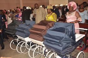 2c - Bayelsa Governor, Seriake Dickson and wife, Rachael dedicate their quadruplets in Church (photos)