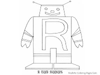 ROBOT Alphabet Coloring Pages