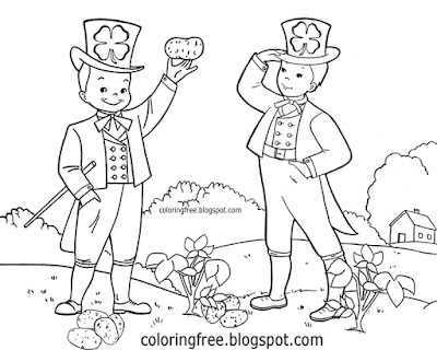 Clipart printable food crop 1845 Irish potato great famine in Ireland colouring pictures for teens