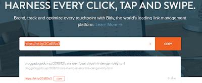 Cara Membuat Shortlink dengan Bitly,
