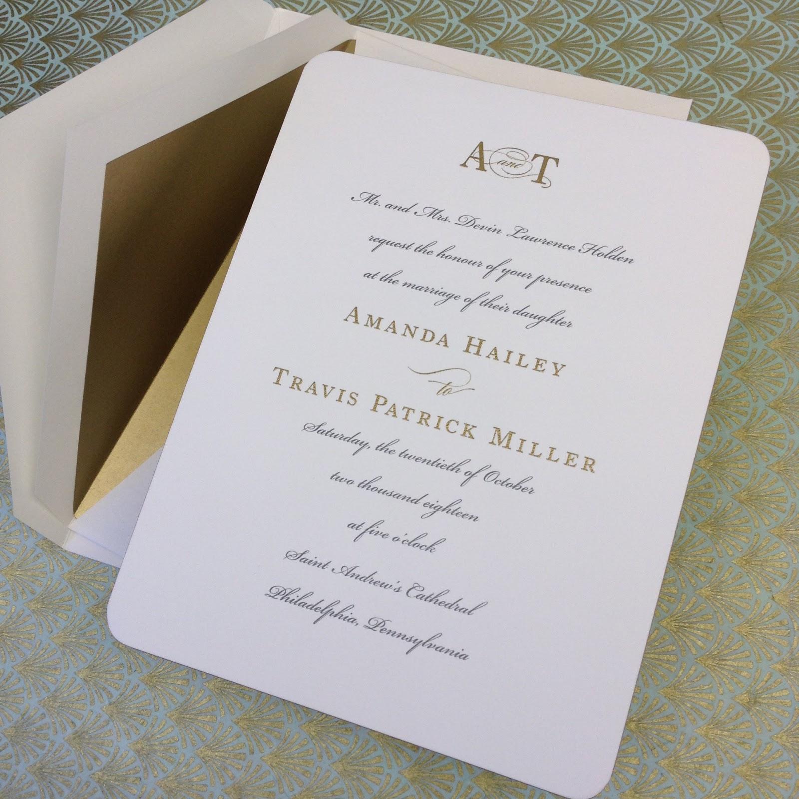 Marvelous New William Arthur Wedding Invitation Samples