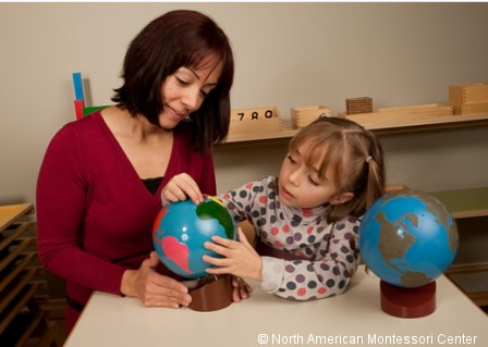 NAMC montessori preschool cultural and geography studies the continents globes