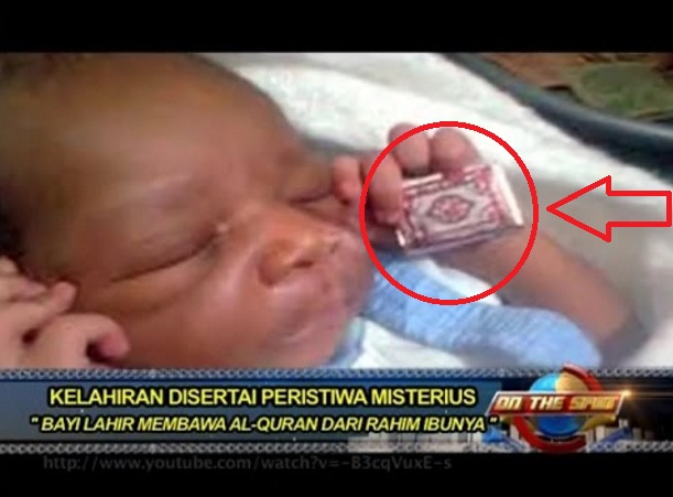 Hasil gambar untuk Bayi Ini Lahir Bawa al-Quran, Ibunya yang Non Islam Langsung Mengucapkan 2 Kalimat Syahadat