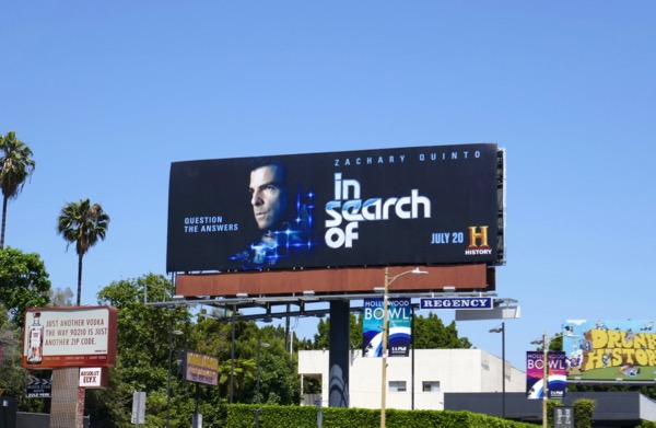 In Search Of series launch billboard
